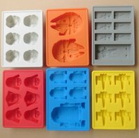 Wholesale Silicone star wars ice cube tray molds Creative US DIY model FDA silicone chocolate cake mold ice box