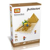 best pyramids - LOZ The Sphinx and Pyramid Egypt Model Nano World Architecture Britain D Diamond Building Blocks Action Figure D Bricks Best Toys