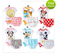 Wholesale 2015 summer new fashion cartoon baby Romper suits comfortable cotton clothes suit infants newborn baby clothing