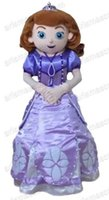 Cheap AMF0319 100% real photos princess Sofia Mascots costume cartoon costumes, adult carnival costume, Party costumes fur mascot