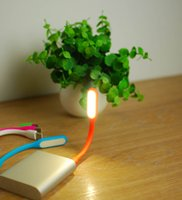 Wholesale Mini Portable Flexible USB Light V LED Book Light for Notebook Laptop Tablet PC Power bank Computer Shell Colors