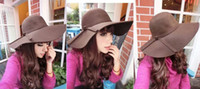 Wholesale 30pcs new spring and winter women s elegant hat British retro ladies casual imitation woolen hat Dayan Mao hat beach hat