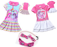 frozen tshirt - HOT FROZEN headband duckbill clip dress My Little Pony kid Tshirt Cotton Dress Cartoon Clothing clothes Y TM