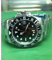 automatic gmt watch - Hot luxury Super Top quality Sapphire Ceramic bezel GMT II Black automatic mechanical Mens Watch Watches