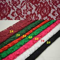 gorgeous fabrics - 1Yard Luxury Gorgeous French Lace Fabric Thread Lace Fabrics Eyelash Warp Knitting Clothing Wedding Dress Fabric Flower Water Soluble Lace