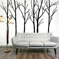 background posters - Extra Large Black Tree Branches Wall Art Mural Decor Sticker Transfer Living Room Bedroom Background Wall Decal Poster Graphic x CM