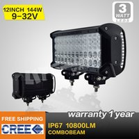 Wholesale 12 INCH W CREE LED LIGHT BAR COMBO BEAM FOR OFFROAD MARINE BOAT MILITARY ATV x4 SUV LED DRIVING LIGHT