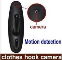 Wholesale Spy Clothes Hook Camera Clothes Hanger HD Hidden Camera Motion Detection DV P High quality DVR Mini DV Pinhole Cam Surveillance J018