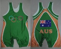 australia bowling - Man and Youth Australia Wrestling Singlet weight lifting Singlet Sports singlet Man Boxing Sports Tights