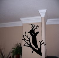 bear outdoor decor - Bear In Tree decal cute Outdoor wall decals vinyl stickers home decor living room decorative wallpaper nursery wall decal