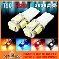 Wholesale High Brightness V SMD LED T10 Car Light Car Turn Light Side Interior Dashboard Bulb Light Automobiles Motorcycles Lighting