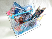 plastic folding table - Frozen Children Girls Table Storage Iron Holder Princess Elsa Anna Women Big Gilrs Make Up PVC Fold Plastic Storage Boxes