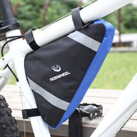 bicycle front rack basket - Front Tube Frame Triangle Pannier Pouch Bicycle Handlebar Bag Cycling Basket Mountain Bike Rack Bag Accessories Cycling Bags