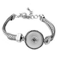 Wholesale P00524 Hot sale NOOSA Metal Snap Button Charm Bracelet Interchangeable Jewelry Ginger Snaps Jewelry Fashion DIY jewelry for women