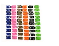 Wholesale 60Pcs quot mm Color Each Contoured Side Release Plastic Buckles Z244