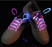 Wholesale 30pcs pairs LED Flashing shoe laces Fiber Optic Shoelace Luminous Shoe Laces Light Up Shoes lace