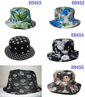 Wholesale 2015 New Floral Bucket Hat Men Women Camo Bucket Hats Outdoor Fishing Hat Sun Hat For Women And Men Hiking Camping Bonnie Caps