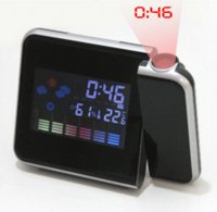 Cheap 2014 New Color LED Backlight Digital Weather Projection Alarm Clock Weather Forecast Station SY0024-20#M1 clock plastic