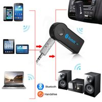Wholesale Bluetooth mm Streaming Car A2DP Wireless Car Kit AUX Audio Music Receiver Adapter Handsfree with Mic For Phone MP3
