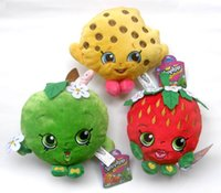 Wholesale Shopkins plush toys Play house plush toys cm Deluxe Kookie Cookie Strawberry Kiss Apple Blossom Stuffed Plush Toys