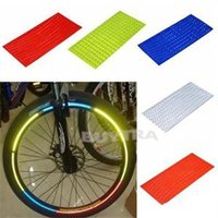 Wholesale 2014 New Fashion Outdoor Sports Fluorescent Bike Wheel Rim Reflective Stickers Decal Brand Cycling Bicycle Wheel Tyre Sticker
