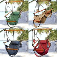 Cheap Hammock Hanging Chair Air Deluxe Sky Swing Outdoor Chair Solid Wood 250lb