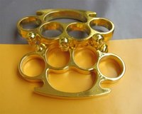 Wholesale 10pcs strong STEEL GHOST BRASS KNUCKLE DUSTERS Black Gold Silver new