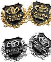 accessories hilux - Toyota corolla camry avensis rav4 yaris hilux metal logo sticker modified standard column car accessories