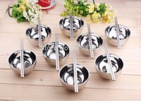 Wholesale Double vacuum Heat Insulation diameter heigh stainless steel serving childern bowl kitchen bowl Easy to clean Metal bowl