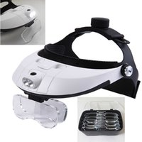 Wholesale The new high grade helmet headset magnifier with LED magnifier five kinds of magnification headlights