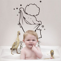 Wholesale New Nursery Kids bathrooms Home Decoration art Decals Wall Stickers Home Decor Removable waterproof Wall Stickers For Kids Rooms A3A5