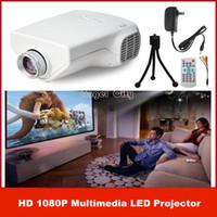 Wholesale Full HD P Portable Mini Multimedia LED Projector Home Cinema Theater Support AV VGA USB SD HDMI
