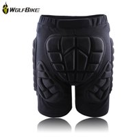 Wholesale NEW WOLFBIKE Sport Protective Hip Pad Padded Ski Shorts Skiing Skating Snowboarding Impact Racing Protection Black M XL