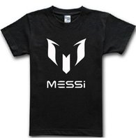 barcelona mark - Barcelona s Lionel MESSI mark MESSI Barcelona football cotton round collar leisure T shirt men with short sleeves