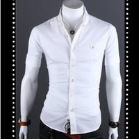 Wholesale Summer Formal Tops Turn down Collar Short Sleeve Metal Button Dress Shirts Men KST150