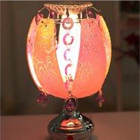 Wholesale 2016 glass Nightlight Fragrance lamp Energy saving socket lamp Pearl Decorative pattern table lamp incense oil perfume lighting