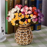 artficial flower - Free ship artficial flowers bouquet Small Tea Bud party decoration real touch roses colors rose balls weddings wreath