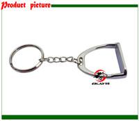 Wholesale horse stirrup key chain gift key ring key holder silver color giveaways K006C