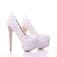 ballet shoes discount - 2015 New Design Women Wedding Shoes Custom High Heels Handmade Lace Party Shoes Platform Shoes discount