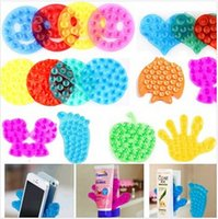 Wholesale 2000pcs CCA2512 Cute Plam Foot Heart Fish Design Double Side Suction Magic Sucker Bathroom Mobile Phone Sticker Stand Holder Vacuum Suck