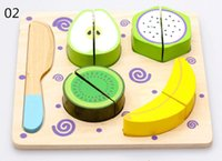 wooden kitchen sets toy - New wooden toy Fruits and vegetables dessert kitchen toy set Baby toy
