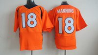 Wholesale Hot Sale Peyton Manning Jerseys Orange Football Jerseys DeMarcus Ware Mens Elite Jerseys Cheap Von Miller Players Sports Shirts
