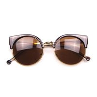Cheap Resin Lenses semi-rim sunglasses Best party, Beach and shopping Cat Eye cat eye sunglasses