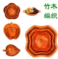 bamboo fruit bowl - New products top quality Japanese wooden bowls hot selling creative fruit plate