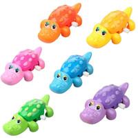 1PC Multi-colores para la Educación Juega Aprendizaje Kid Niños Wind Up Cocodrilo Alligator Clockwork Toy FZ1604