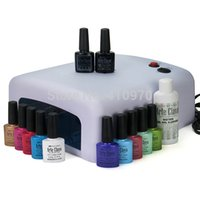 arte colors - Hot Sale Arte Clavo ml ANY Colors W UV Lamp Top Base Coat Cleanser Plus Soak Off UV Gel Polish Nail Art Set
