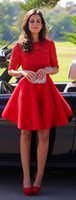 Hot Sale Cheap Sexy Red Mini Vestidos Lace Império Prom Dress A-Line Satin Party Dress Ruffles Custom Made Plus Size