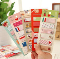 memo pad - 2015 Hot Sale New Vintage cute cartoon schedule memo stickers Sticky Notes Message pad stationery JIA109