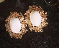 Wholesale gold flower pearl sunflower women s earings xcdxl
