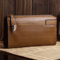 Wholesale Men Genuine Leather Business Briefcase Clutch Bags Handbags Wallet Cards Purse For Men AR172 smileseller